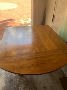 Kitchen expandable solid all wood table