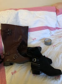 Size 7.5 wide boots and shoes  Calgary, T2T 3Y8