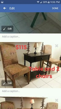 Table with 3 chairs $115 1213 mi