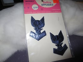 Vintage SoRite Appliques Military Themed Stick On Sewn On Patches