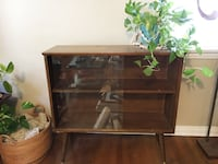 Mid Century Modern Wood and Glass Cabinet Pasadena, 91101