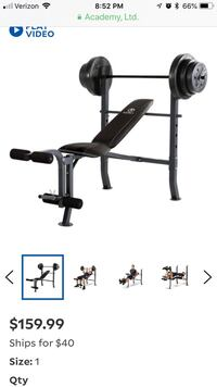 Black and gray exercise equipment Conroe, 77302