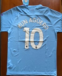 Sergio Aguero, Man City Jersey, Puma Men's Large, 19-20