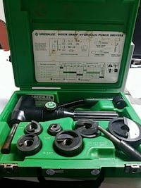 Used Greenlee Hydraulic Punch Driver For Sale In West
