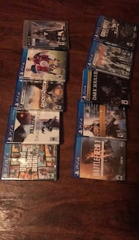 Six assorted sony ps4 game cases Washington, 20020