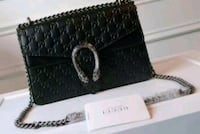 black and gray leather wristlet Mississauga, L5T 2L8