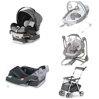 Chicco Infant Car Seat, Extra Base, Stroller, Bouncer & Swing Springfield