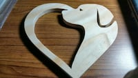Handmade Wooden Dog in Heart Silhouette  Palm Bay, 32907