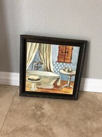 brown wooden framed painting of brown wooden house Fullerton, 92831