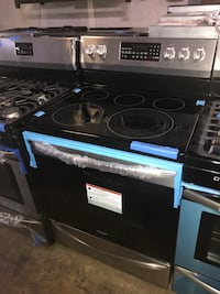 Frigidaire stainless steel electric stove convection 6 months warran