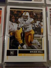 Brian Hill Rookie Card Wyoming