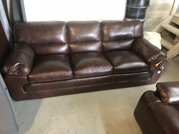 Brand New Simon Li Leather Couch And Recliner