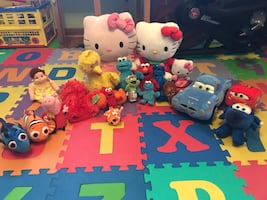 Sesame Street,Cars,Dory/Nemo,Hello Kitty,Super Wings,Peppa Pig,TY