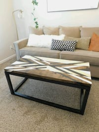 Handmade Geometric Tribal Chevron Wooden Hand Painted Coffee Table Charlotte, 28269