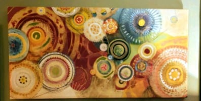 Large Colorful Abstract Canvas