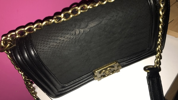 e6f3a8d2d527 Used black leather Chanel crossbody bag for sale in London - letgo