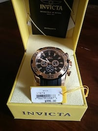 round black chronograph watch with black strap in box Bethune, 29009
