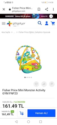 Fisher price mini monsters activity oyun halısı