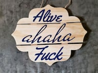 Wooden home decor sign