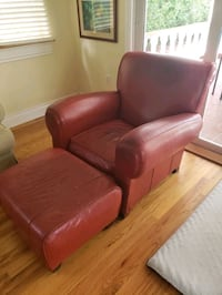 Leather chair with an ottoman $200 Coral Gables, 33134
