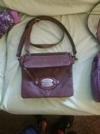 women's purple leather sling bag Youngstown, 44502
