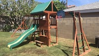 Brown and green outdoor playset Huntington Beach, 92646