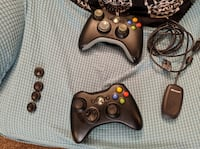 Pair of Xbox 360 Wireless Controllers W/ Wireless Adapter for PC Boise