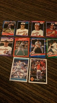 Orioles assorted baseball cards