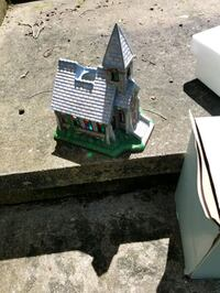 """""""THE CHURCH"""" WITH STEEPLE.CANDLE HOLDER"""