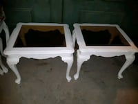 two white wooden side tables Whitby, L1N 9E2