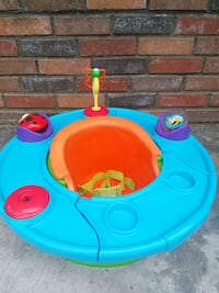 baby's blue, green and orange activity saucer Moreno Valley