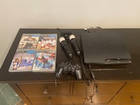 PS3 console 4 games 1 controller 2 PS Move controllers PS Move camera