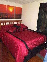 Q bed with rails & mattress Jacksonville, 32208