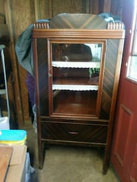 brown wooden framed glass display cabinet Wrightsville, 17368