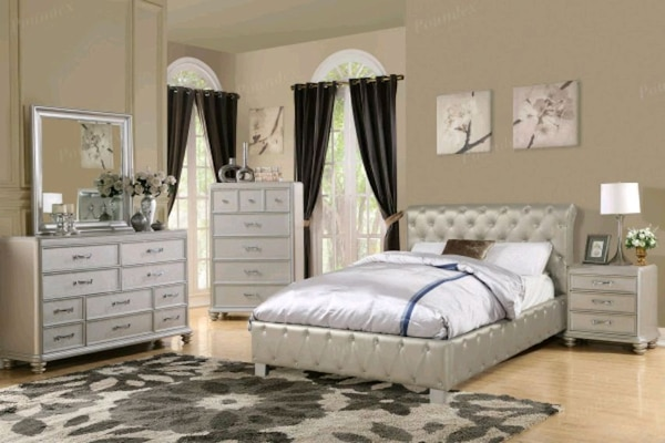 Awesome Silver Queen Size Leather Bed Interior Design Ideas Philsoteloinfo