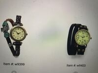 two black and white analog watches Dollard-des-Ormeaux, H9G 2P1