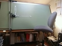 Drafting table set up