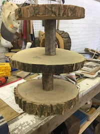 3 tier cake /cupcake stand rustic wood rounds Reminderville, 44202