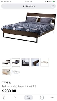 IKEA TRYSIL queen bed frame and mattress  Markham, L6C 2V7