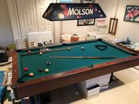 Pool table. Regulation size. Great condition. Comes with accessories.  Walkersville, 21793
