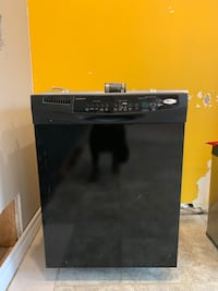 Black whirlpool dishwasher