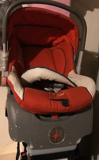 Infant car seat by Compass with Latch mechanism in good condition.