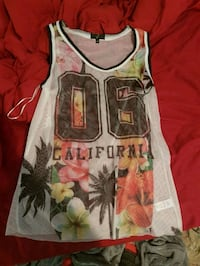 white and red floral tank top Niagara Falls, L2H 1W5