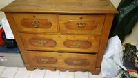 Antique wood drawer chest  PICK UP ONLY  Toronto, M6E 4S3