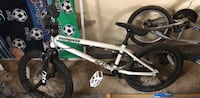 White and green bmx bike