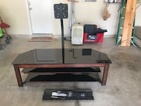 black and brown wooden TV stand San Antonio, 78216