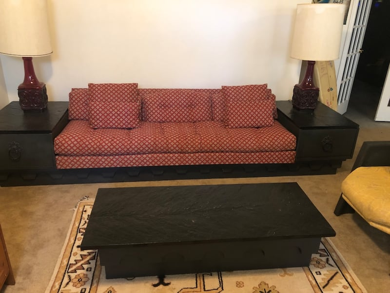 Couch - Vintage family room set, granite tops 15451771-be40-4076-a89a-b10d75642b7f