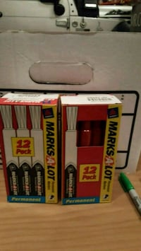 Marks-a-lot red permanent markers 4 X 12 count Winchester, 22601