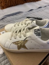 $15 GENTLY USED SIZE 3 GIRLS GOLDEN GOOSE DUPE SNEAKERS
