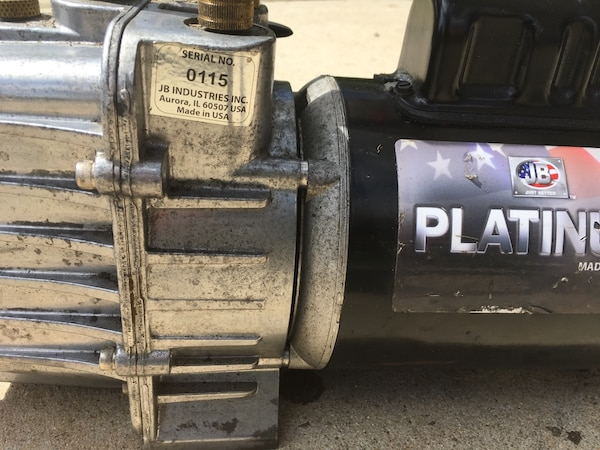 JB Industries Inc, Platinum Vacuum Pump 7CFM 2 Stage 1/2hp